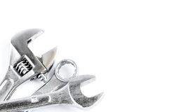 Set of tools over a white background Stock Image