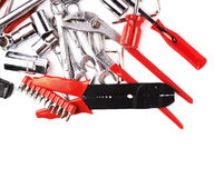 Set of tools over white isolated background Royalty Free Stock Photos