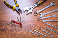 Set of tools Royalty Free Stock Photo