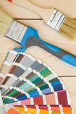 A set of tools for painting a house stock photos