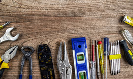 Set of tools renovate Royalty Free Stock Images