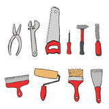 A set tools for the repair of apartments Royalty Free Stock Images