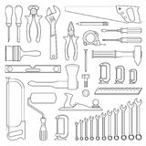 Set tools for repair Royalty Free Stock Images