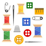 Set of tools for sewing Stock Photos