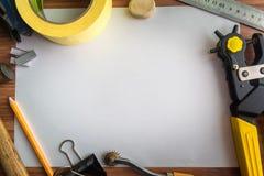 Set of tools Shoemaker workspace. Background Stock Photography