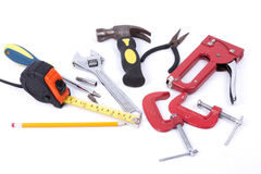 Set of tools on a white background Stock Photo