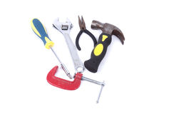 Set of tools on a white background Royalty Free Stock Images