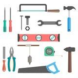 Set of tools on white background. Vector illustration Stock Image