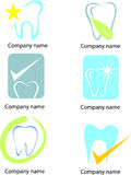 Set of Tooth Icons and Elements Stock Photo