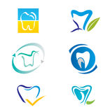 Set of Tooth Icons and Elements for Logo Design Royalty Free Stock Image