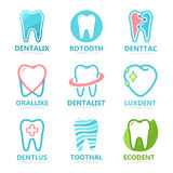 Set of tooth logo design template.  Stock Photo