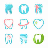 Set of tooth logo design template. Royalty Free Stock Photography
