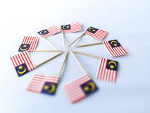 Malaysia flags Royalty Free Stock Photography
