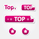 Set of Top Bent Stickers and Labels. Set of Top and Star Bent Stickers and Labels Stock Photos