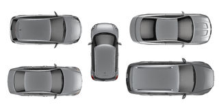 Set of Top view cars Royalty Free Stock Photo