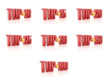 Set of Tops. Red on white background. Stock Images