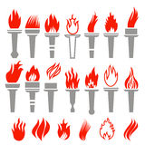 Set of Torch Icon  Stock Photo