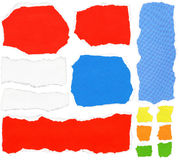 Set of torn paper. Set of torn colorful paper Stock Image