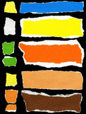 Set of torn paper. Set of torn colorful paper Royalty Free Stock Photography