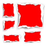 Set of torn papers Royalty Free Stock Photography