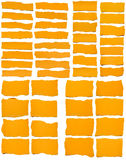 Set Of Torn Yellow Paper stock image