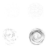 Set of tornado textures isolated on the white background Stock Images