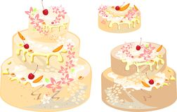 Set of tortes Stock Photo