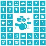 Set of torty fourteen art and cinema icons. Simple art and cinema icons set for web and mobile design stock illustration