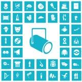 Set of torty fourteen art and cinema icons. Simple art and cinema icons set for web and mobile design royalty free illustration