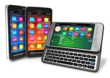 Set of touchscreen smartphones Stock Images