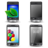 Set of touchscreen smartphones Royalty Free Stock Photos