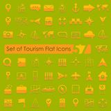 Set of tourism flat icons Royalty Free Stock Photography
