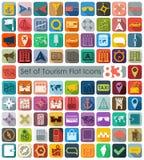 Set of tourism flat icons Stock Photo
