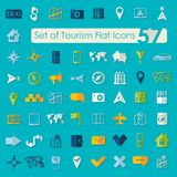 Set of tourism flat icons Stock Images