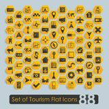 Set of tourism flat icons Stock Photography
