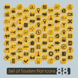 Set of tourism flat icons Stock Photography