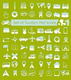 Set of tourism icons Royalty Free Stock Photography