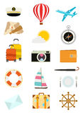 Set of tourism icons. Vector illustration Stock Images
