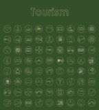 Set of tourism simple icons Royalty Free Stock Images