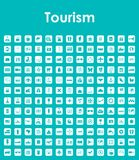 Set of tourism simple icons Stock Photography