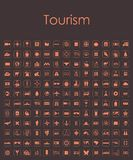 Set of tourism simple icons Royalty Free Stock Photography