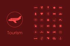 Set of tourism simple icons Stock Photo