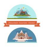 Set of tourist hostels Stock Photography