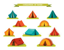 Set of tourist tents. Stock Image