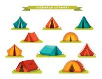 Set of tourist tents. Stock Image
