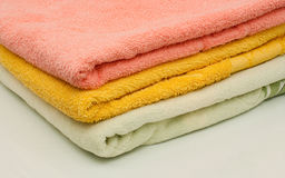 Set of towels Royalty Free Stock Image