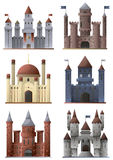 Set of towers and castles Royalty Free Stock Images