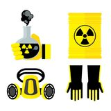 Set of toxic items Stock Images