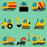 Set of toy  cartoon vehicles Stock Photo