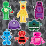 set toy för eps-robot royaltyfri illustrationer